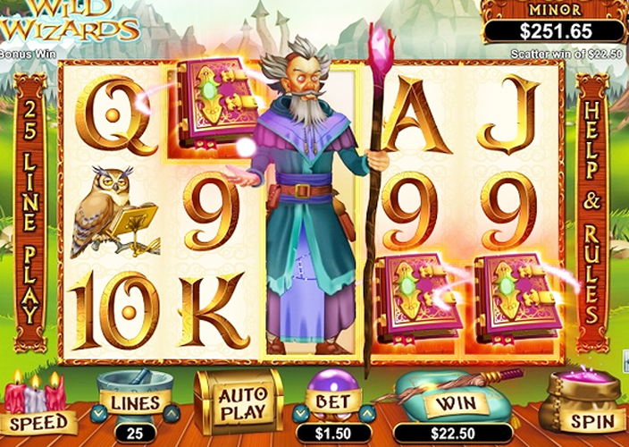 Wild Wizards™ Slot Machine Game to Play Free in Saucifys Online Casinos