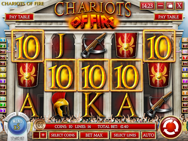 Chariots of Fire Slot - Try it Online for Free or Real Money