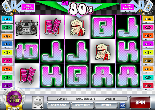 Super Eighties - video slot fra 1980