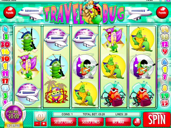 Travel Bug™ Slot Machine Game to Play Free in Rivals Online Casinos