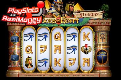 Gods of Egypt 3D Progressive Online Slots Review At Slotland Casino