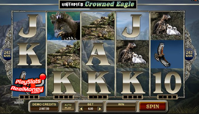Untamed Crowned Eagle Slot Machine Online ᐈ Microgaming™ Casino Slots