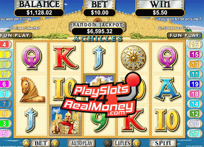Take Control & Play Achilles Slot Game Free With This Fantastic Casino Bonus Offer