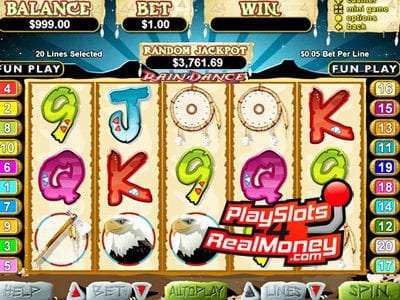 Rain Dance Video Slot Game Reviews At USA Online Casinos