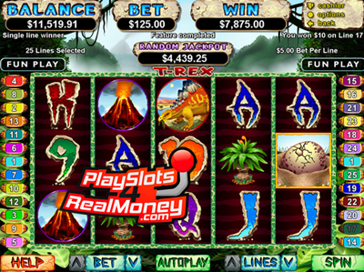 Realtime Gaming T-Rex Online Casino Video Slot Reviews