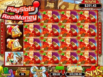 Naughty List RTG Video Slots Game Reviews At USA Online Casinos