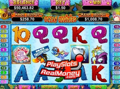 Ocean Oddities US Progressive Online Slot Machine Review At RTG Casinos