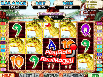T-Rex Slot Machine by RTG – Play Free Realtime Gaming Slots