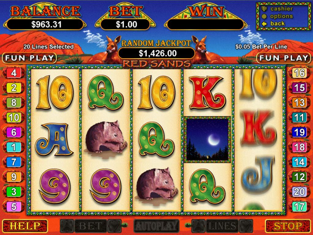 Red Sands Slot - Play this RTG Casino Game Free Online