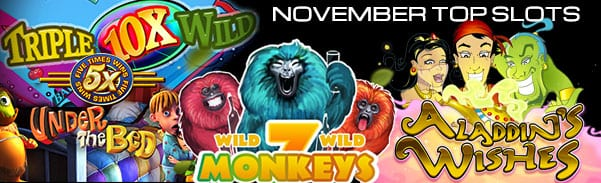 Discover The Most Popular Online Slot Machines By Spins In November 2016