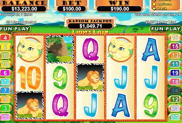 lion slot online casino
