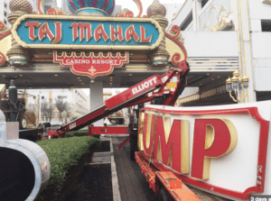 President's Name Removed From The Shuttered Trump Taj Mahal