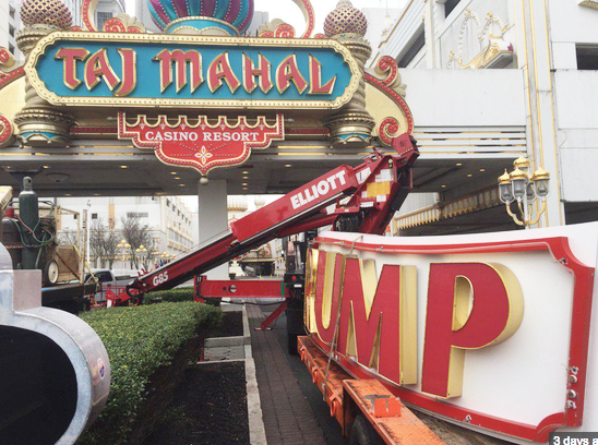 US President's Name Removed From The Shuttered Trump Taj Mahal