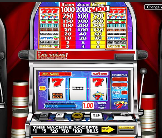 Lucky 7 slot machine french roulette call bets
