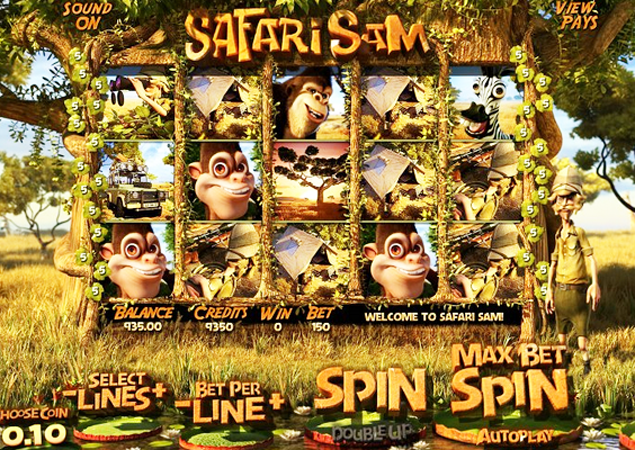 Safari Sam™ Slot Machine Game to Play Free in BetSofts Online Casinos