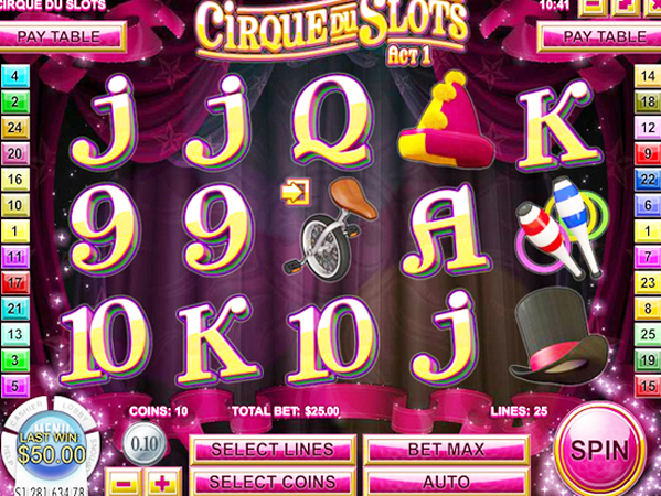 Cirque Du Slots Slots - Play it Free Online