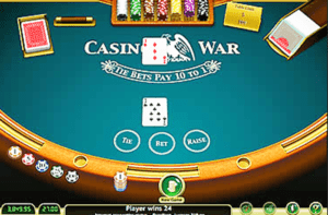 Casino War Table Game Online
