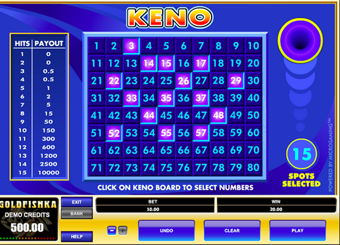 Play Keno Online And On The Go | Real Money Specialty Games