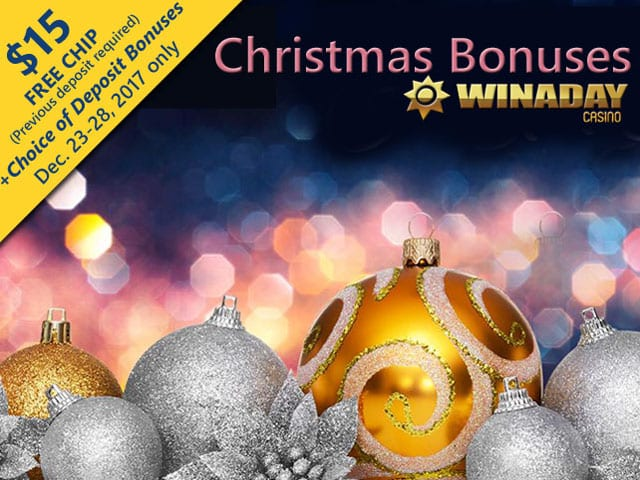 WinADay Casino Offers Holiday No Deposit Bonus Codes