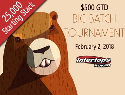 Enjoy Groundhog Day at Intertops Poker with 25,000 Chips