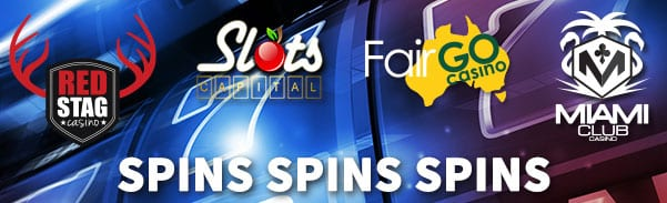 "Weekly ""Free Spins Spins Spins"" No Deposit Casino Bonus Coupon Codes"