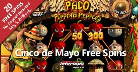 "Enjoy Paco and the Popping Peppers Slot Machine On ""Cinco De Mayo"" 