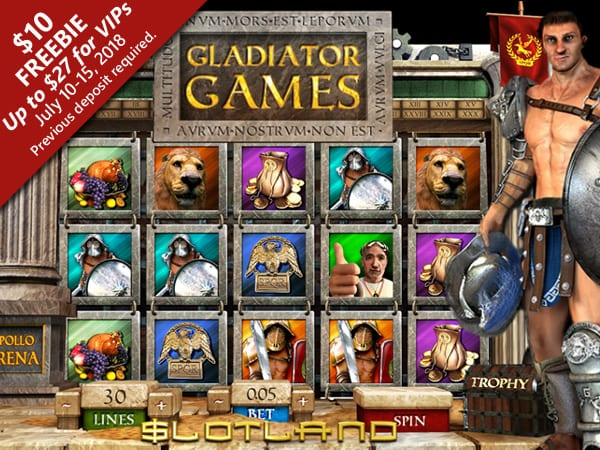 Slotland Launches New Gladiator Games Slots With Dynamic Bonuses | Free Chips