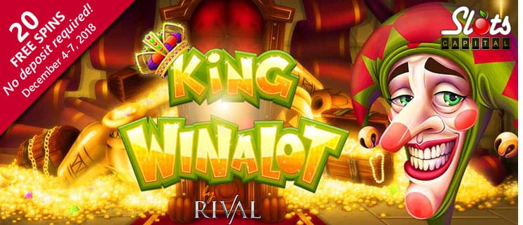 Slots Capital Free Spins Bonus for Rival's New King Winalot Slots