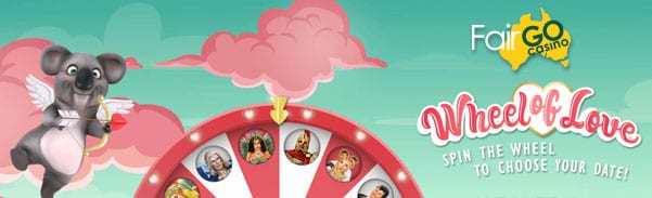 spin the wheel of love special bonus free spins