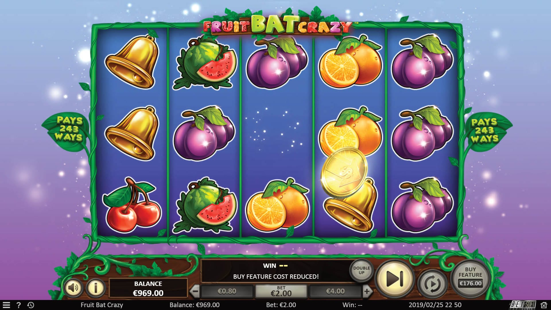 "BetSoft's ""Fruitbat Crazy"" Goes Live 