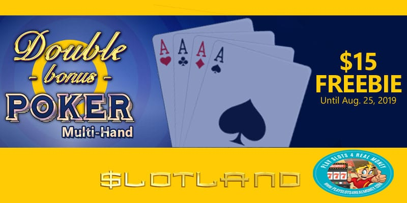 Slotland multi-hand video poker machine