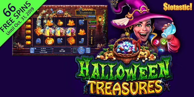 Realtime Gaming Releases The Halloween Treasures Video Slot Machine