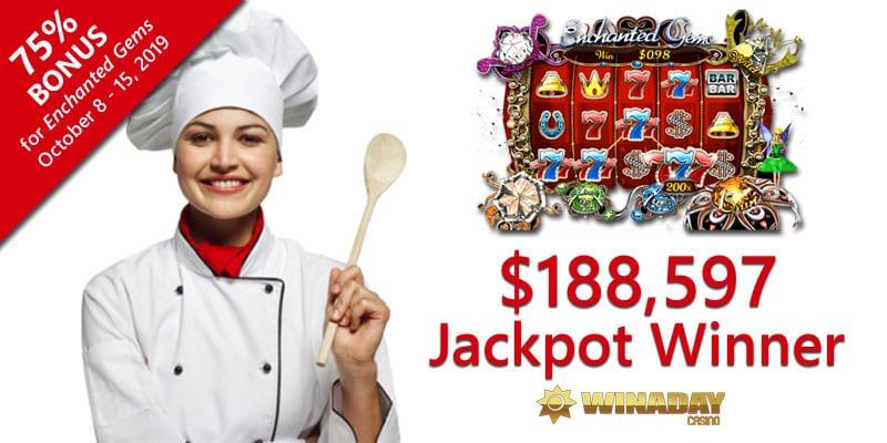 A Six-Digit Slots Jackpot  At WinADay Online Casino Sets Up a Nice Long Vacation