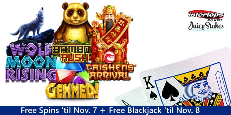 Get Your 100 Free Spins PLUS 15 Free Blackjack Bets