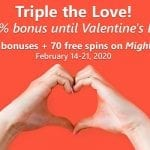 Slots Capital Casino Is Offering Good Valentines Day Gifts Plus Free Spins On The Mighty Aphrodite Slot Game