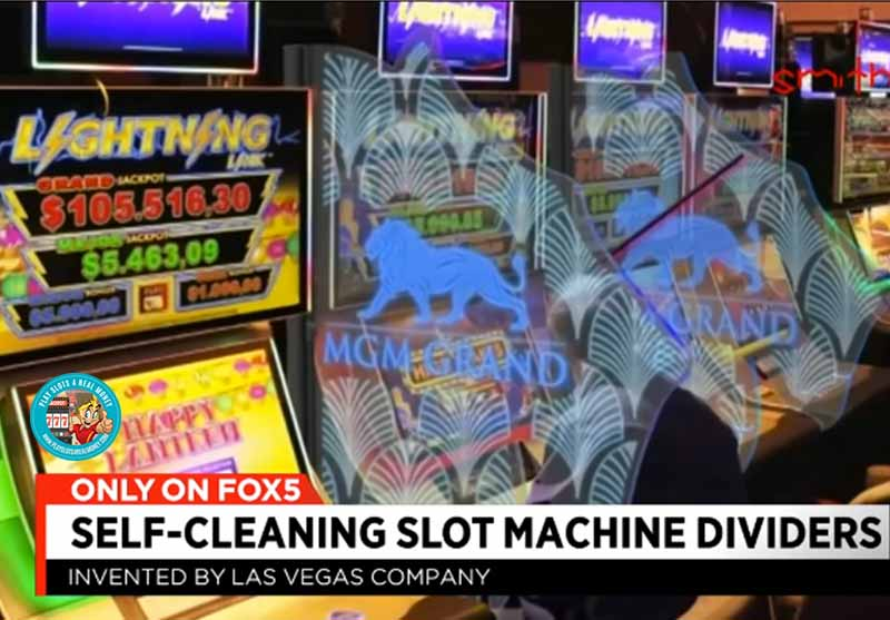 A Self-Cleaning Slot Machine Divider Attracts Interest in Las Vegas