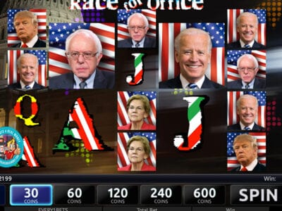 Race For Office Slots Reviews Bonuses RTP% Slotland Entertainment