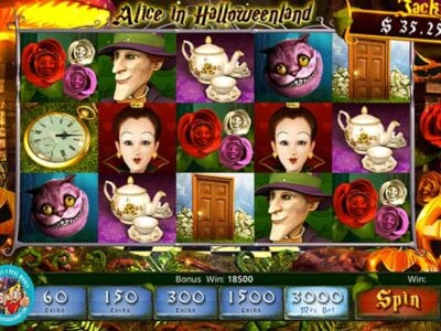 Alice in Halloweenland Slots Reviews Slotland WinADay