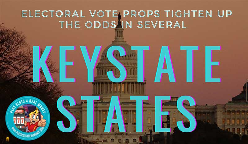 Electoral Vote Political Props Tighten Up For The Odds To Win In Several Key States