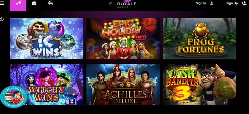 El Royale Casino Games Screenshot