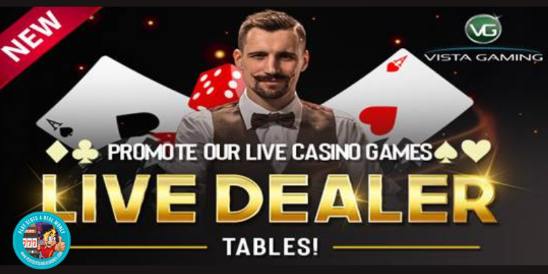 Live Casino Is Now Available At VistaGaming Casino Brands