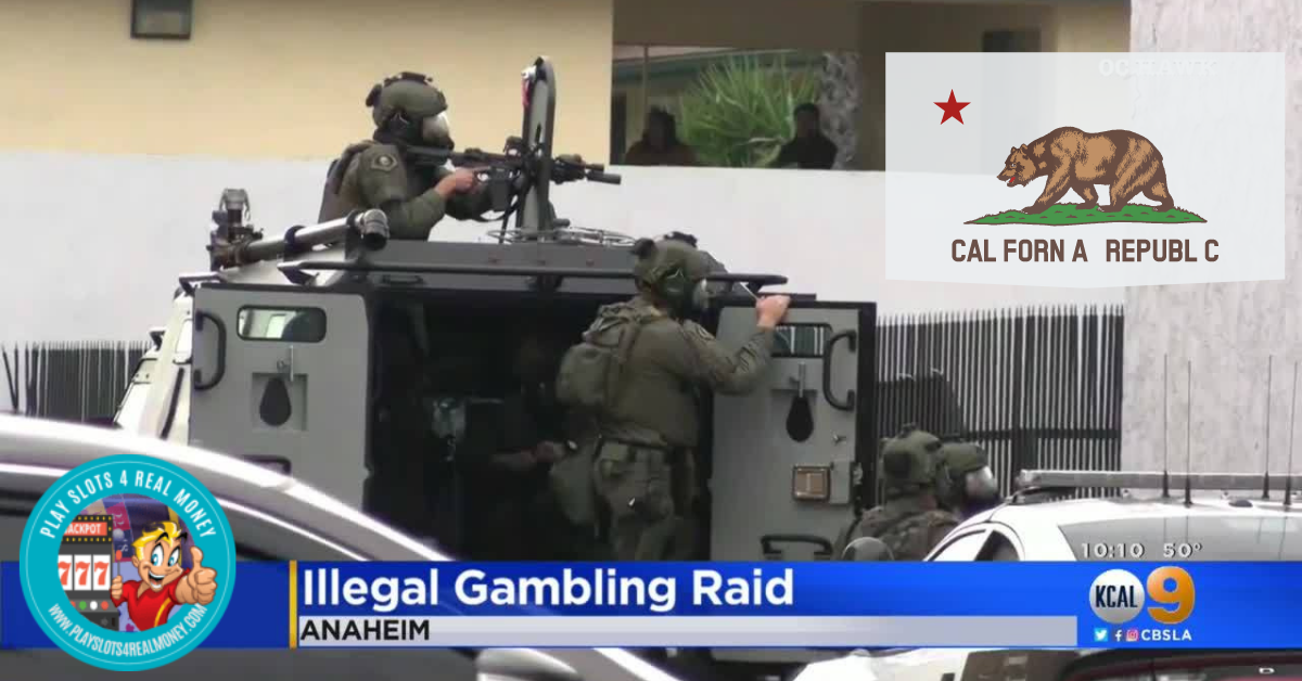 California Authorities Continue To Raid Illegal Gambling Operations
